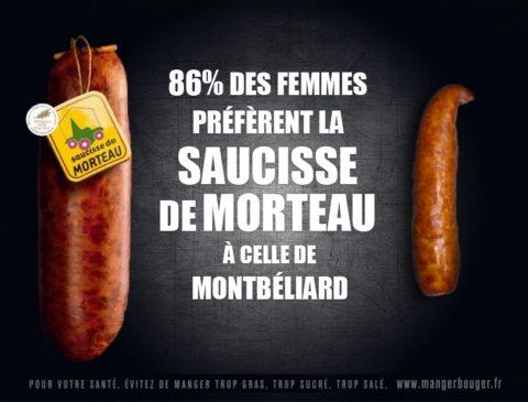 saucisse de Morteau vs Montbéliard