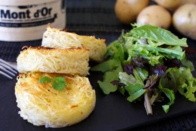 Paillassons de pommes de terre au Mont d'Or