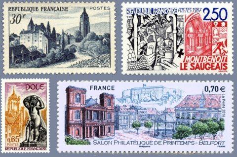 philatélie villes franc-comtoises