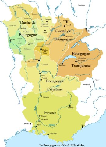 quatre bourgognes XIème XIIème siècles