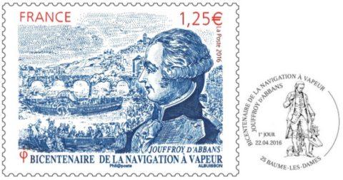 timbre premier jour Jouffroy d'Abbans