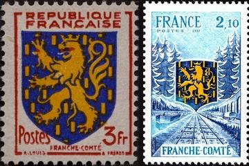 timbres blason Franche-Comté