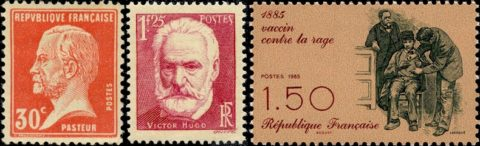 timbres Pasteur Hugo