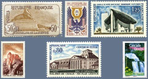 timbres patrimoine franche-comté