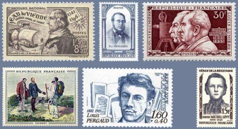 timbres personnalités comtoises